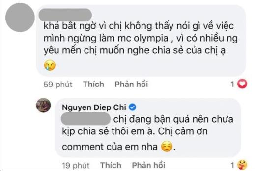 MC Diệp Chi có động thái bất ngờ khi Khánh Vy thay thế tại Đường Lên Đỉnh Olympia 2