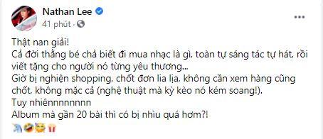 Nathan Lee nghi mỉa mai Cao Thái Sơn: 'Nghệ thuật mà kỳ kèo nó kém sang' 1