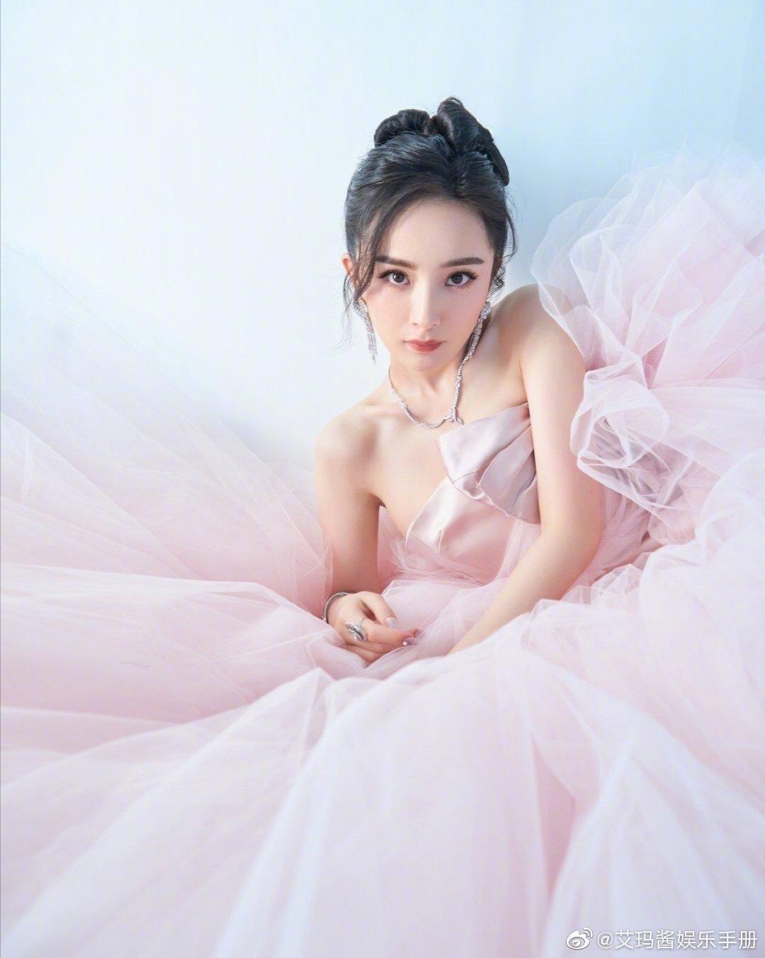 17 mỹ nhân Cbiz đọ sắc trong váy dạ hội màu hồng: Lộ Tư kiêu sa, Dương Mịch quyến rũ, Nhiệt Ba 'ngọt lịm' đến trùm cuối sến súa nổi da gà 5