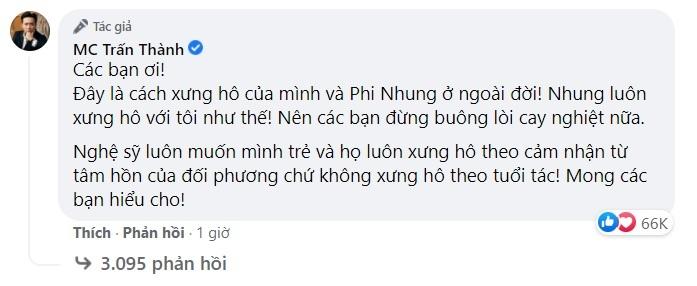 Quản lý của Phi Nhung nhắc đến Trấn Thành liên quan đến cách xưng hô 'bạn' với đàn chị hơn 17 tuổi 4