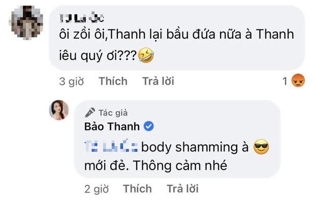 Bảo Thanh đáp trả căng đét khiến netizen phải muối mặt vì buông lời 'body sam sung' 2