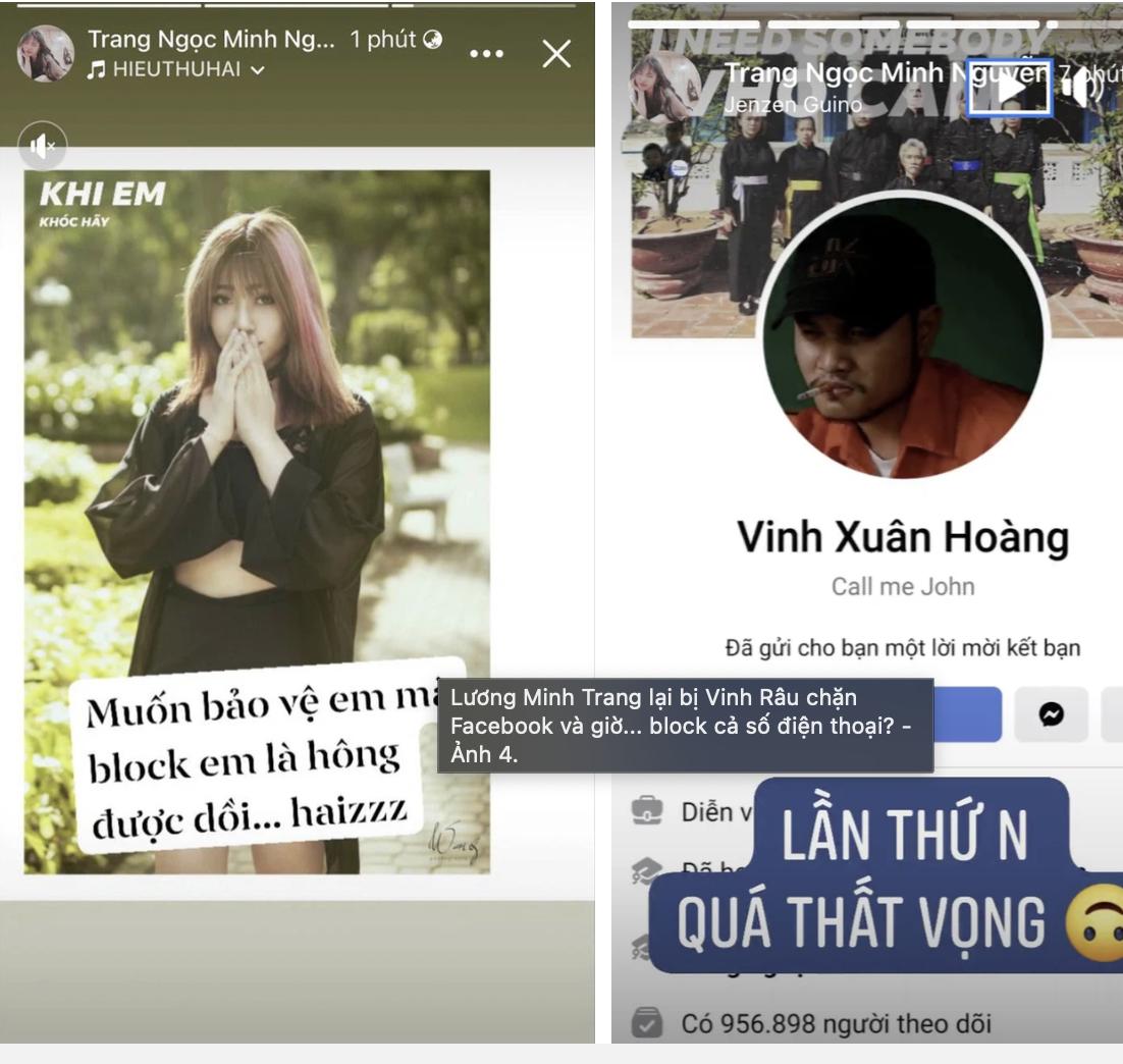 Vinh Râu tiếp tục chặn số điện thoại sau khi thẳng tay 'block' vợ cũ Lương Minh Trang? 3