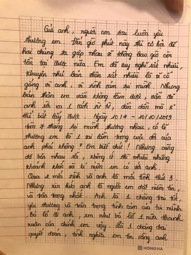Bức tâm thư được cho của Thiên An gửi Jack cách đây 2 năm bỗng hot trở lại 1