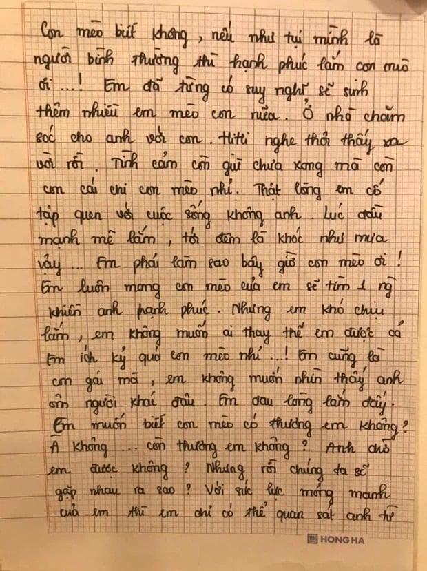 Bức tâm thư được cho của Thiên An gửi Jack cách đây 2 năm bỗng hot trở lại 2