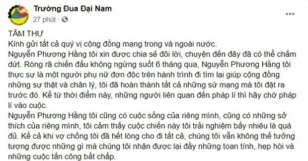 Không chỉ dừng lại và đóng kênh YouTube, bà Phương Hằng còn nhắn nhủ đanh thép điều này 1