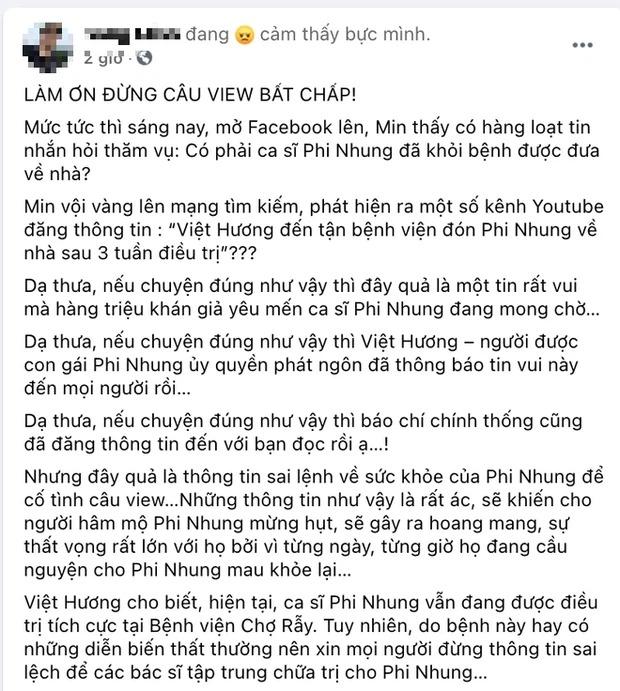 Rộ tin đồn Việt Hương đến tận BV đón Phi Nhung và sự thật phía sau mới ngỡ ngàng 1