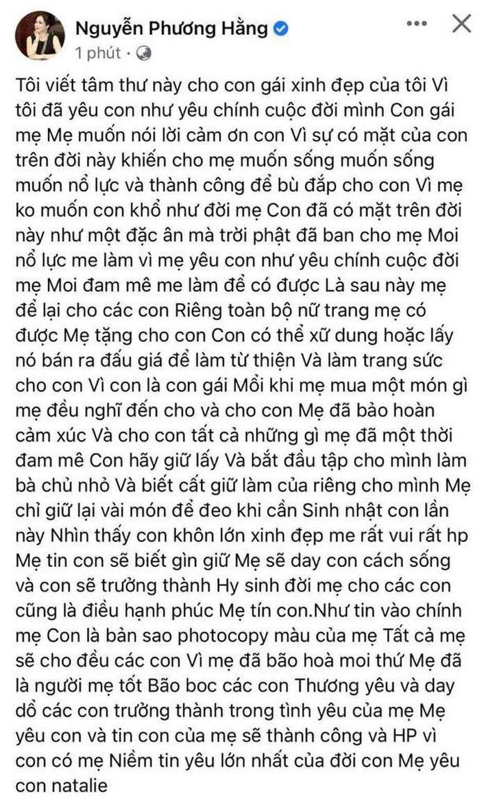 Bà Phương Hằng tiết lộ danh tính người thừa kế bộ nữ trang bạc tỷ của mình 4