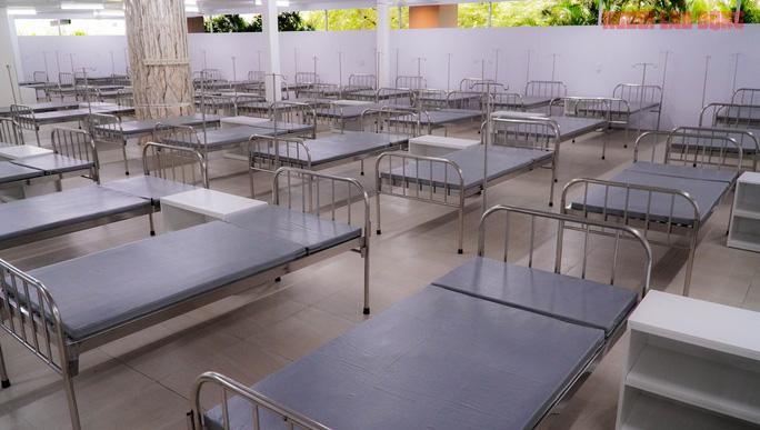 BV dã chiến 1000 giường bệnh ở Thuận Kiều Plaza chính thức tiếp nhận, điều trị BN Covid-19  6