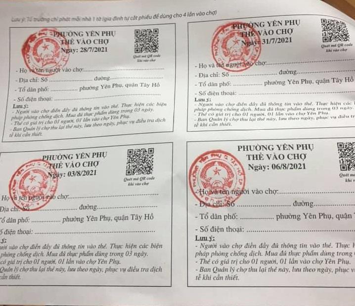 Hà Nội sẽ áp dụng phiếu đi chợ cho toàn thành phố, mỗi hộ có thể đi chợ 4 lần/tuần 3