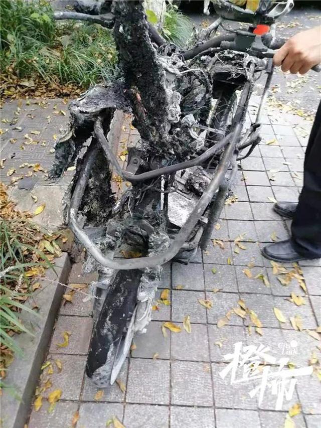 Xe điện đột ngột bốc cháy, 2 bố con bị thiêu rụi quần áo 3