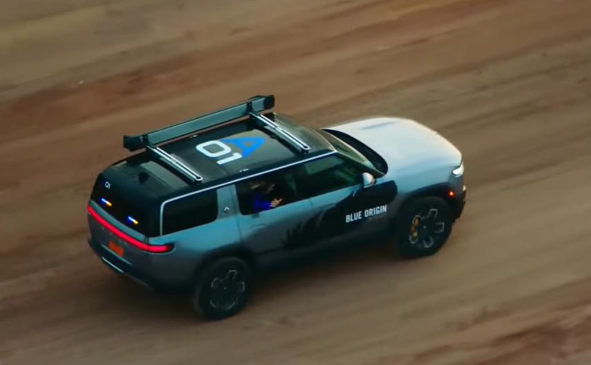 Cận cảnh chiếc xe điện Rivian R1s được tỷ phú Jeff Bezos dùng đến phi thuyền New Shepard 2