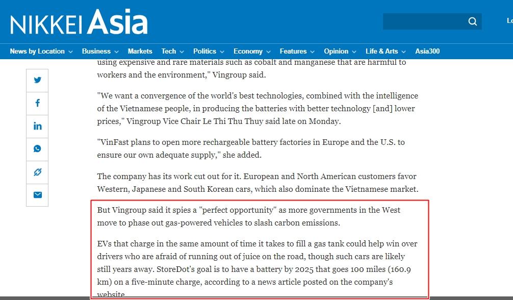 VinFast được truyền thông quốc tế đồng loạt nhắc tên, nhiều ông lớn xe hơi phải dè chừng 2