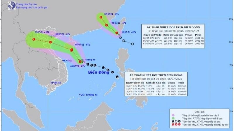 دریای شرقی دارای یک فشار گرمسیری در سطح 10 است ، احتمال تبدیل شدن به طوفان 1