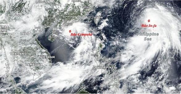 سطح برخورد № 3 طوفان 14 to به نقطه شروع منحرف شده و در گردش است و باعث بارش شدید باران برای شمال 2 می شود