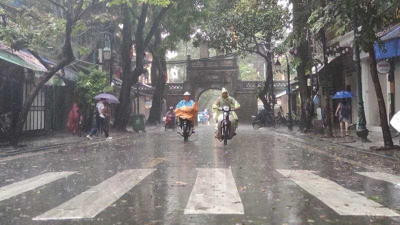 Áp thấp nhiệt đới gây gió giật mạnh tiến sát Quảng Ninh, các tỉnh thành giáp biển mưa lớn 2