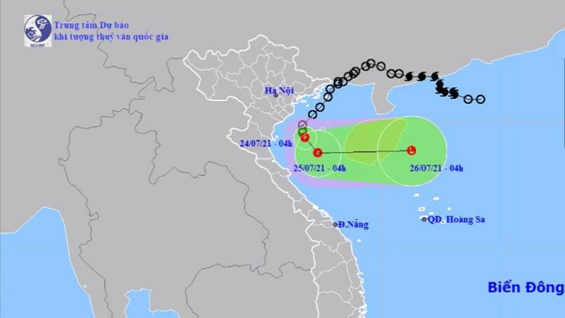 Cập nhật: Áp thấp nhiệt đới giật cấp 8 cách bờ biển Nam Định-Ninh Bình 120km 1