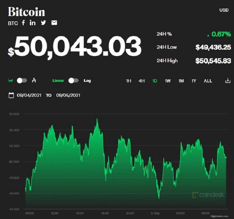 Giá bitcoin hôm nay 5/9/2021: Bitcoin và hơn nửa thị trường tăng trưởng 1