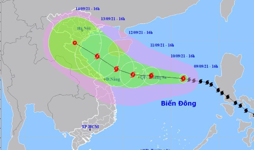 Cập nhật tin bão mới nhất: Bão số 5 Côn Sơn mạnh lên cấp 13, tiếp tục hướng vào đất liền 1