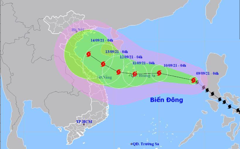 Tin bão số 5: Bão Côn Sơn giật cấp 11 đang lao nhanh hướng thẳng vào Bắc Bộ 1