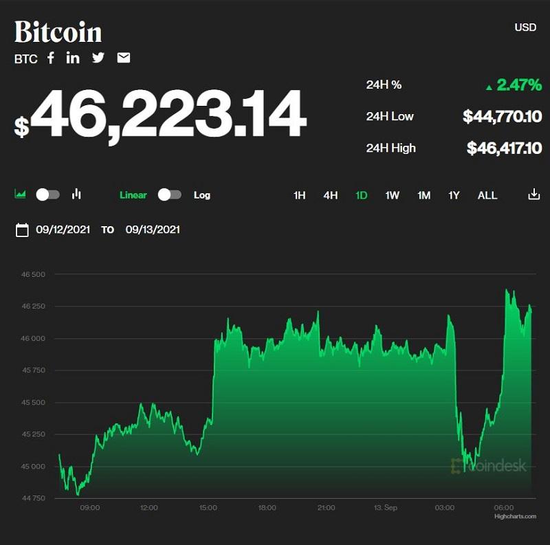 Giá bitcoin hôm nay 13/9: Bật tăng trở lại sau chuỗi ngày xuống đáy 1