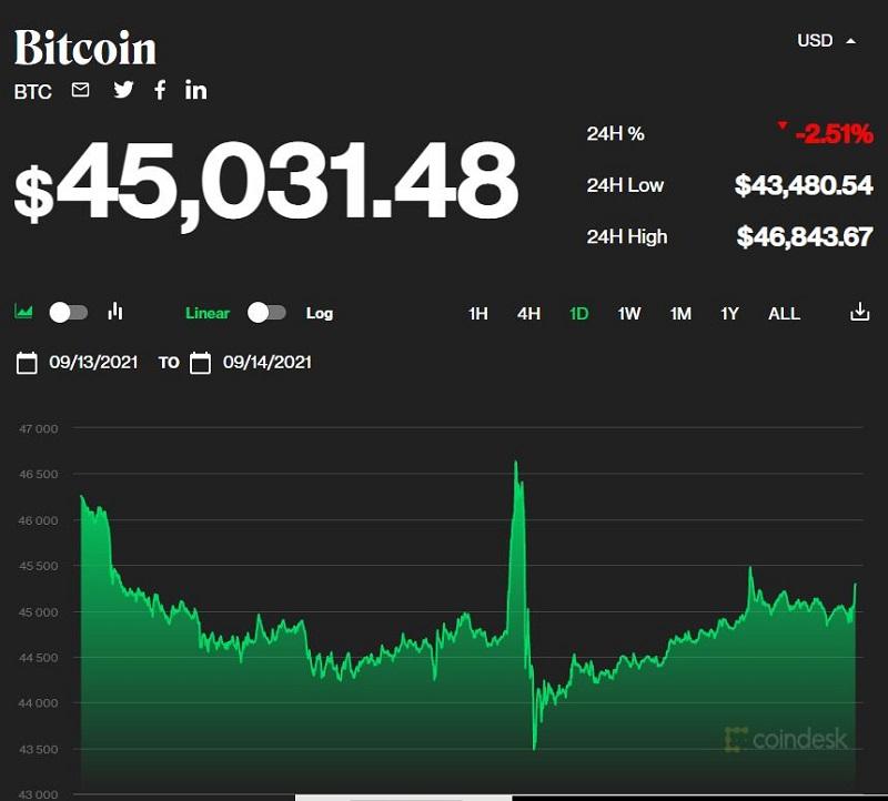Giá bitcoin hôm nay 14/9: Quay đầu tiếp tục giảm sâu, thị trường đỏ rực 1