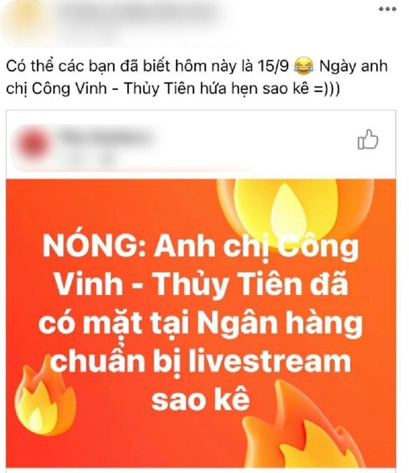 Bà Phương Hằng buông, vợ chồng Công Vinh - Thủy Tiên vẫn bị một nhóm người đeo bám đòi sao kê 5