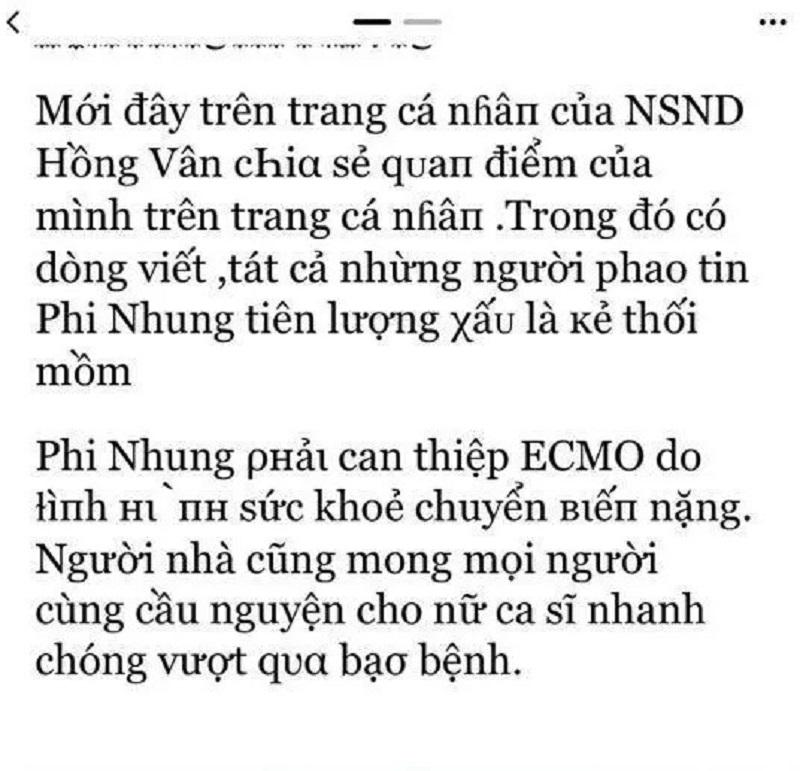 NS Hồng Vân lại vạ miệng, kéo cả Phi Nhung vào cuộc hậu ồn ào với bà Phương Hằng? 4
