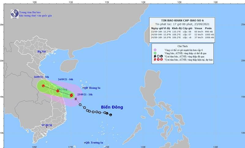 Cập nhật mới nhất về cơn bão số 6: Bão gây mưa rất to từ Quảng Trị đến Bình Định 1