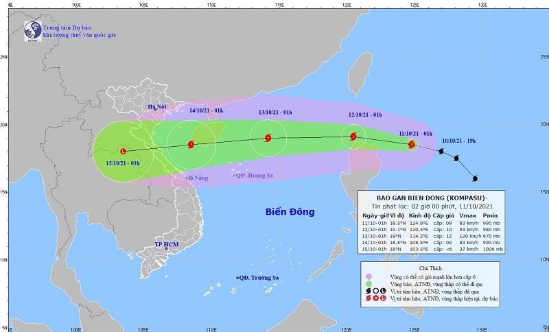 Bão Kompasu cực mạnh tiếp tục nạp năng lượng chuẩn bị vào biển Đông thành bão số 8 1
