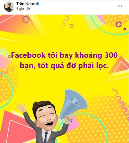 MC Trần Ngọc VTV tỏ thái độ trước sự việc loạt tài khoản Facebook 'bay màu' trong đêm 2