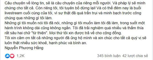 Bà Phương Hằng đăng tâm thư sau 6 tháng livestream: 'Tôi thực sự là một người phụ nữ đơn độc' 4