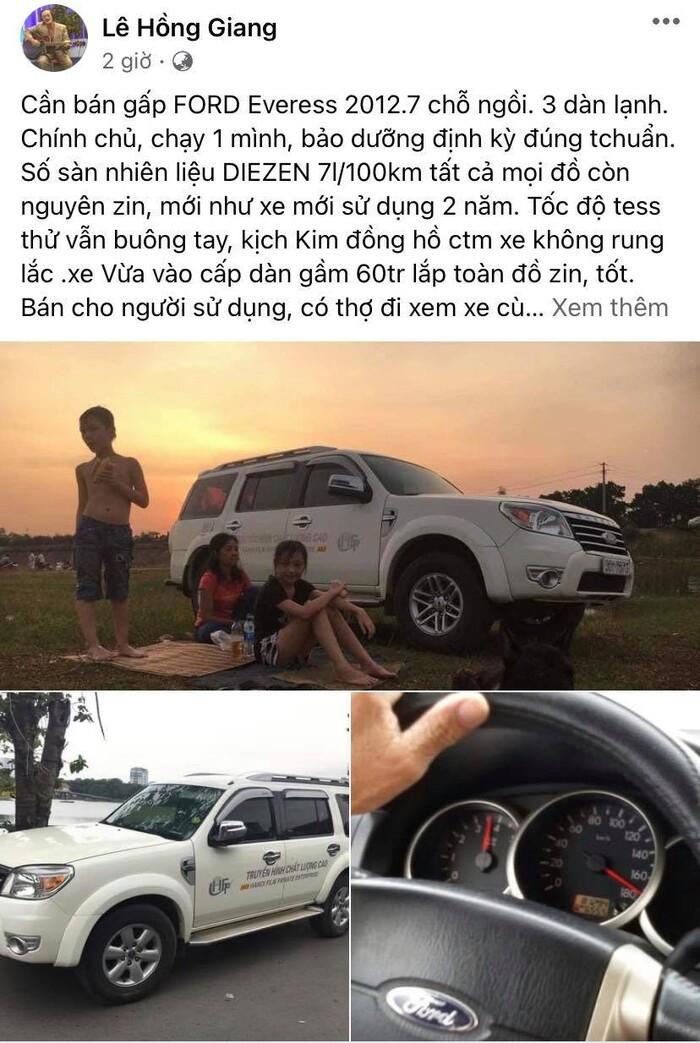 Nghệ sĩ Giang còi trở bệnh nặng, đăng bán gấp xe hơi để chạy chữa 2