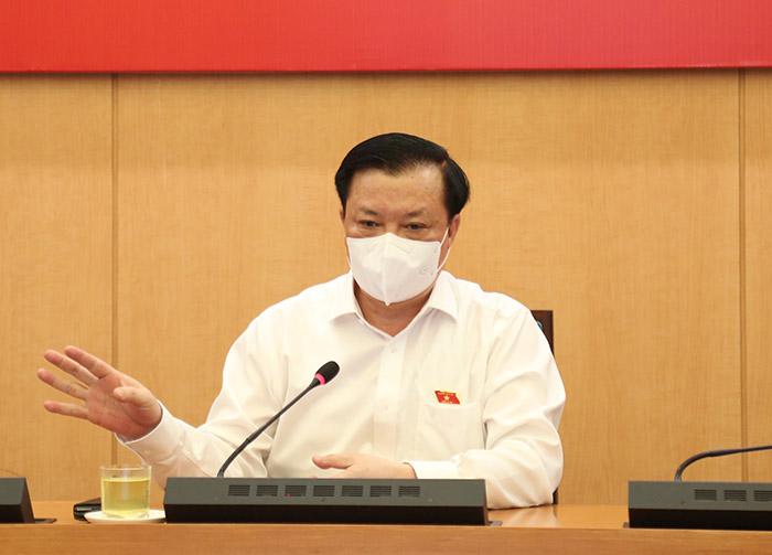 Bí thư Thành ủy Hà Nội Đinh Tiến Dũng: Sự ủng hộ và chấp hành nghiêm của nhân dân là nguồn động viên to lớn để chống dịch 2