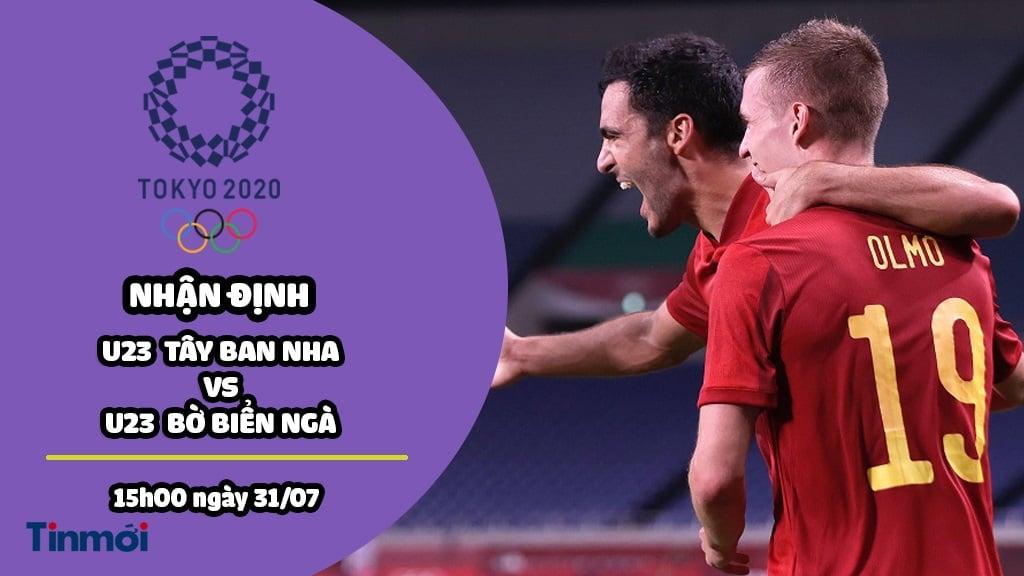 Nhận định U23 Tây Ban Nha vs U23 Bờ Biển Ngà, 15h00 ngày 31/07: Tứ kết môn bóng đá nam Olympic 1