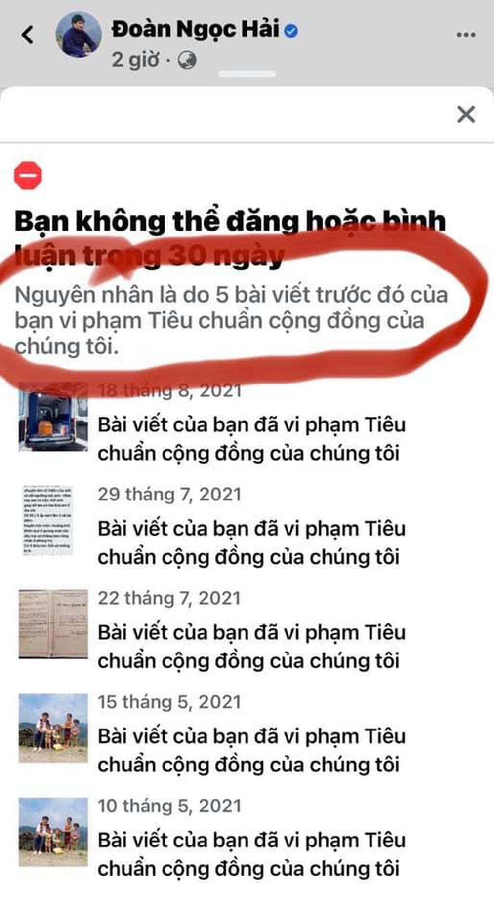 Giữa 'cơn bão bay màu' vì share link, Facebook ông Đoàn Ngọc Hải cũng bị khóa 30 ngày: Lý do vì đâu? 1