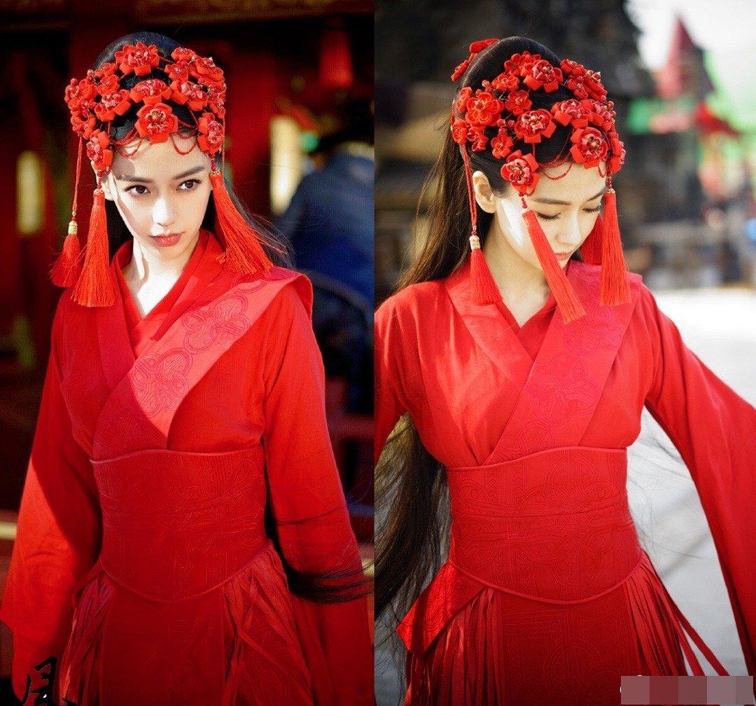 Dương Mịch, Lệ Dĩnh, Diệc Phi, Đường Yên... xúng xính trong trang phục tân nương cổ trang 3