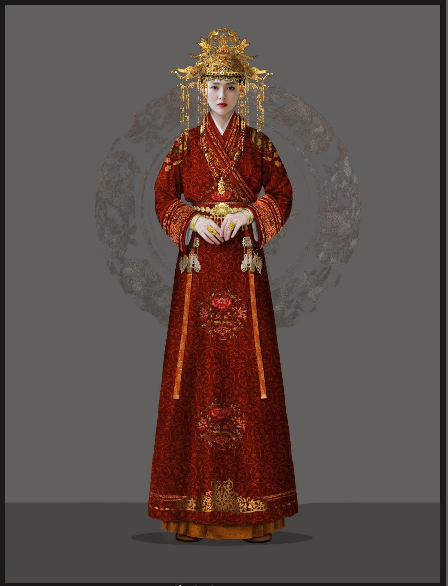 Dương Mịch, Lệ Dĩnh, Diệc Phi, Đường Yên... xúng xính trong trang phục tân nương cổ trang 11