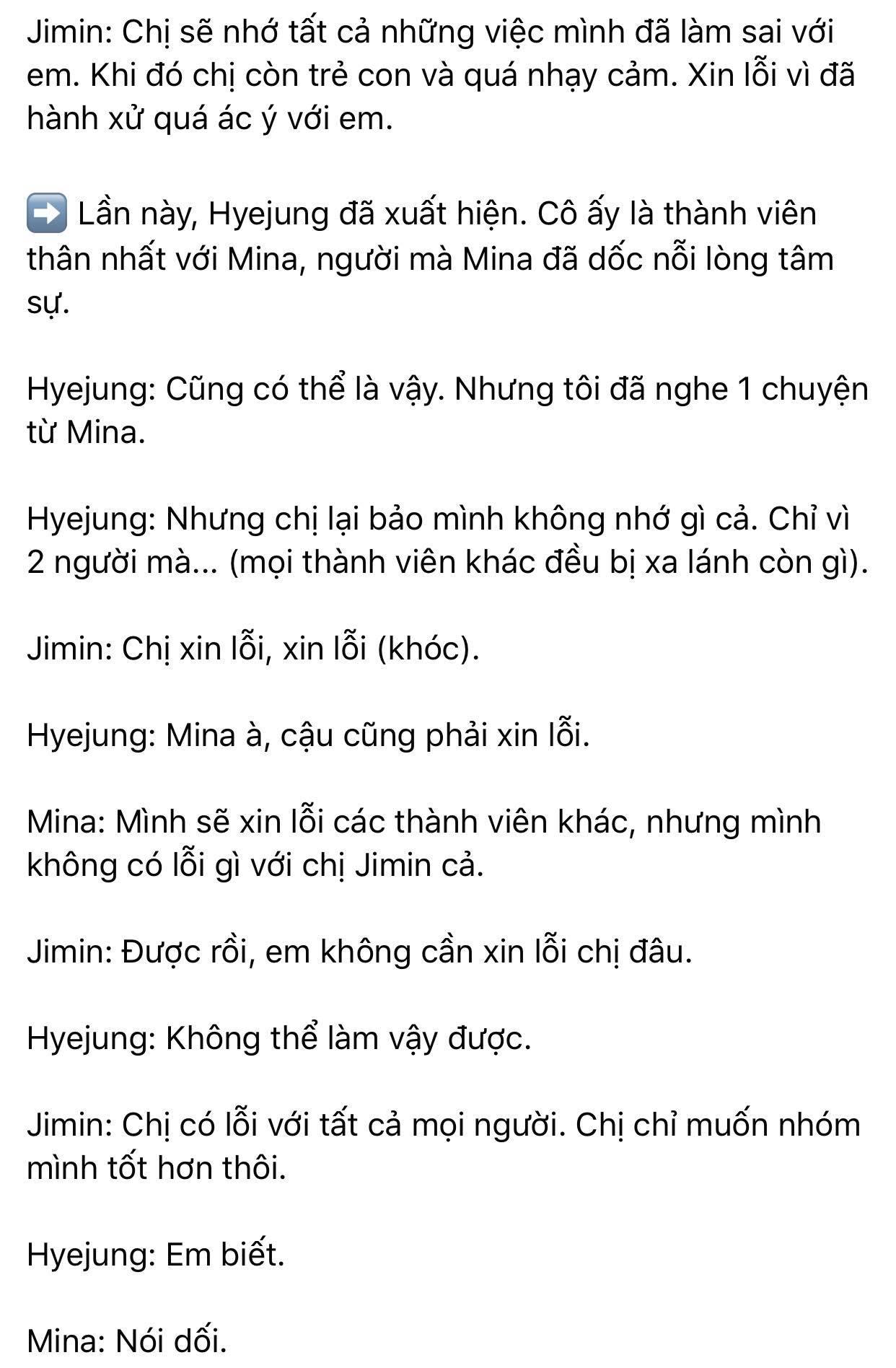 Dispatch khui toàn bộ hội thoại trong buổi gặp mặt AOA: Mina trở thành kẻ cố chấp thích đóng vai nạn nhân 10