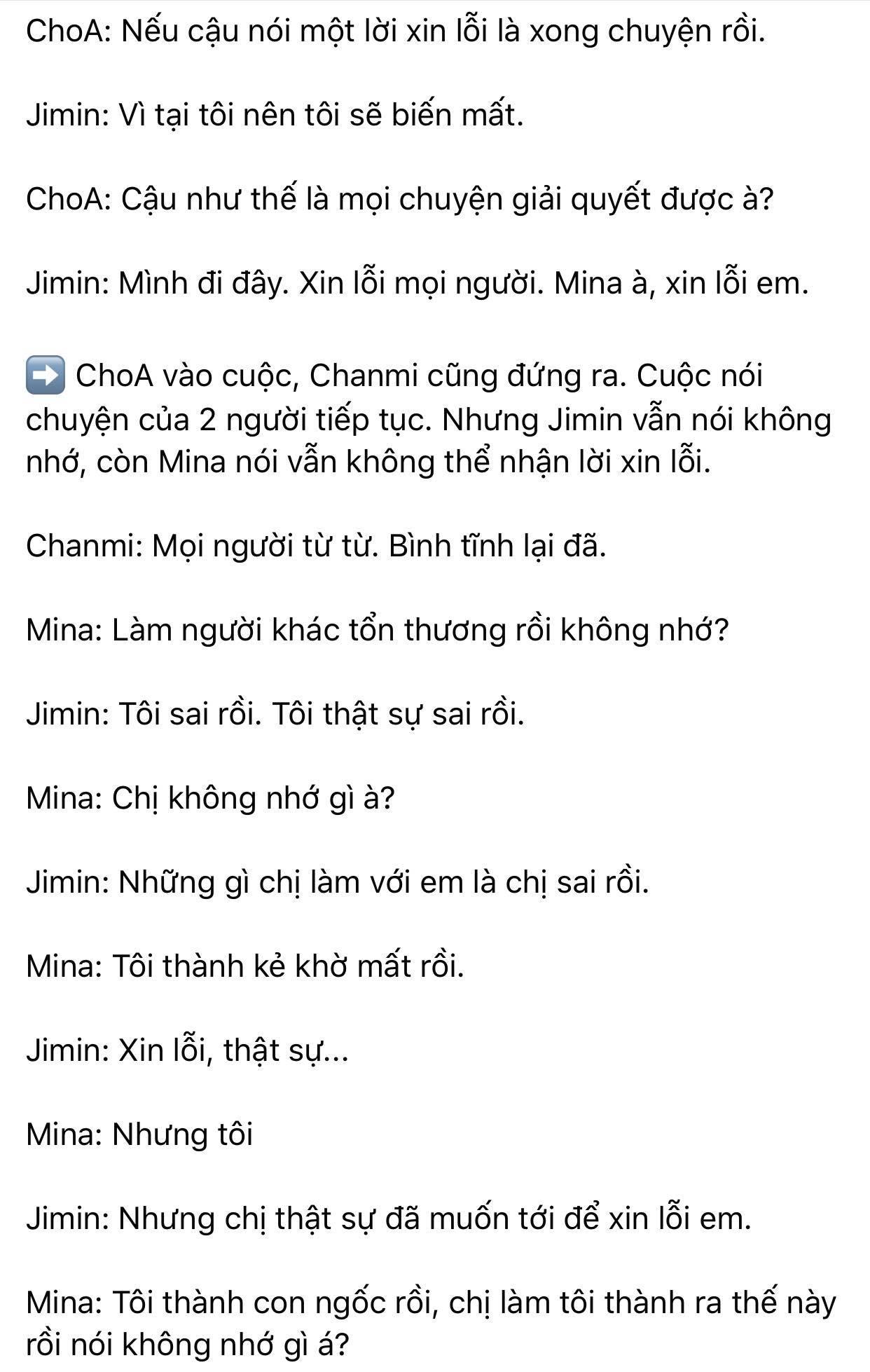 Dispatch khui toàn bộ hội thoại trong buổi gặp mặt AOA: Mina trở thành kẻ cố chấp thích đóng vai nạn nhân 5