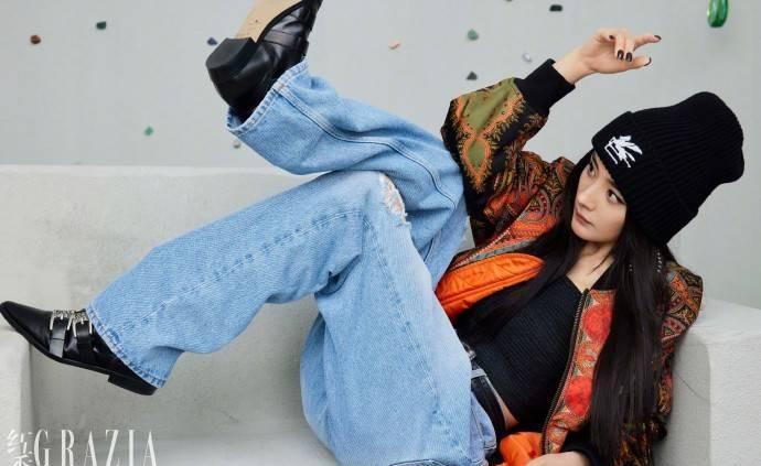 Dương Mịch ngổ ngáo trên bìa Grazia, xứng danh 'chị đại' tắc kè hoa 7