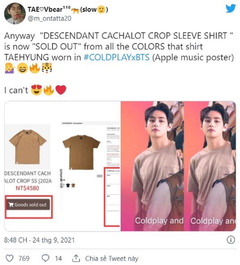 'Ông hoàng Sold Out' V BTS vừa 'phù phép' trên thảm đỏ TMA khiến các trang phục 'cháy hàng' khét lẹt 5