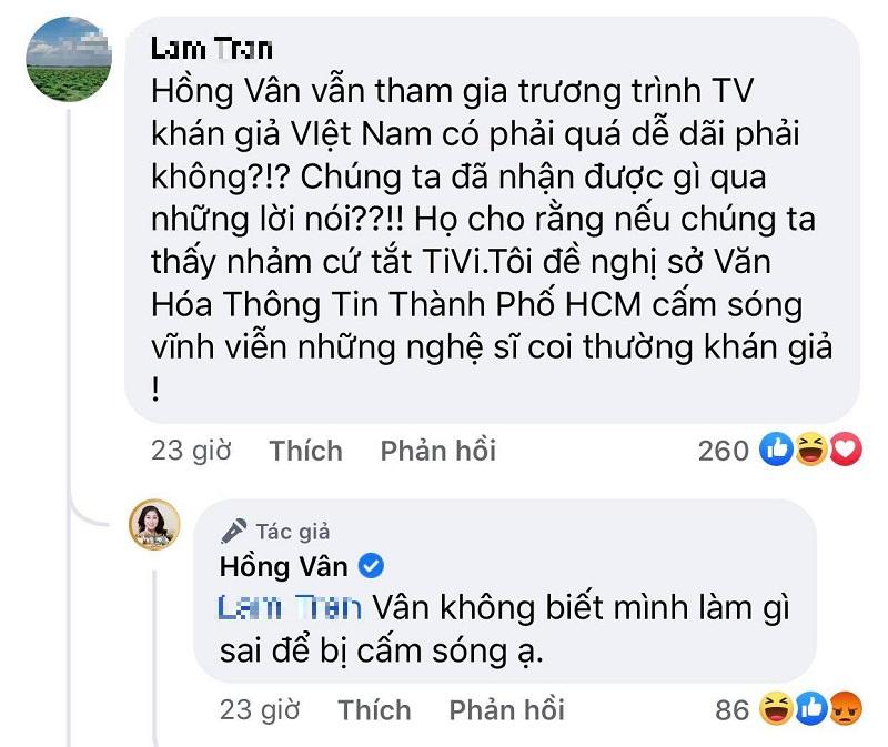 Không biết 'mình làm gì sai để bị cấm sóng', Hồng Vân được netizen 'đả thông trí nhớ' 3