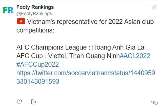 AFC chốt suất dự cúp châu Á 2022: HAGL ăn mừng trở lại Champions League sau 17 năm 1