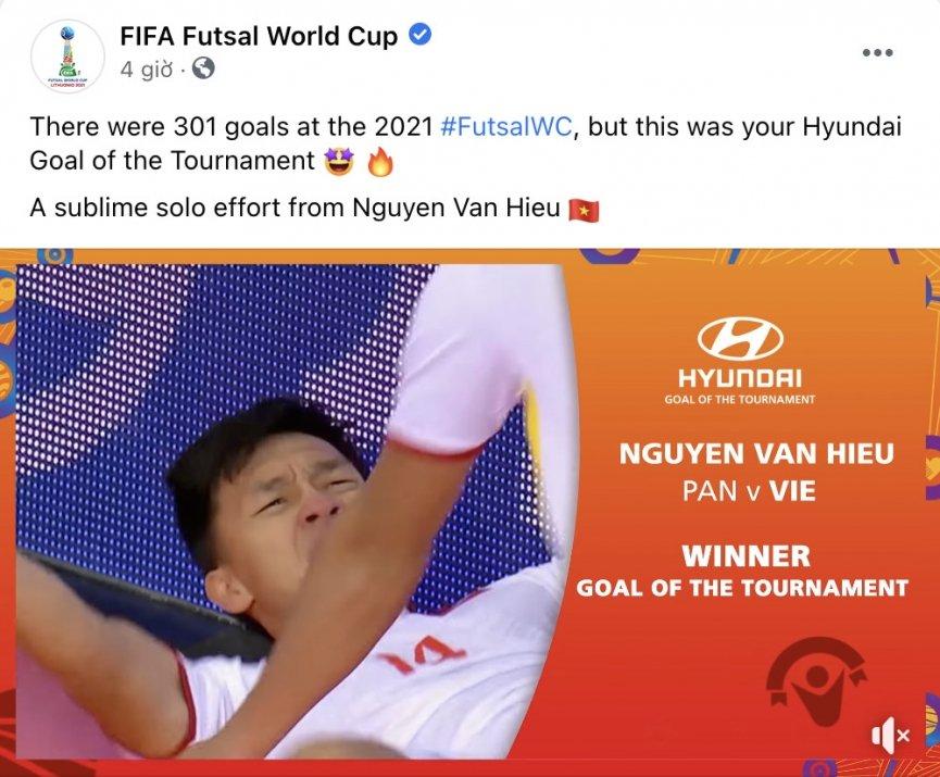 Bàn thắng solo hoàn hảo của Việt Nam được bình chọn đẹp nhất World Cup Futsal 2021 1