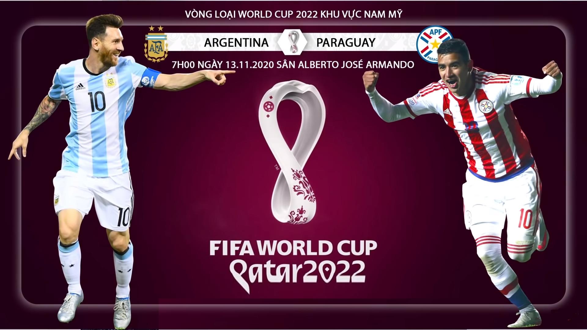 Link xem trực tiếp bóng đá Paraguay vs Argentina (6h00, 8/10) vòng loại World Cup 2022 1