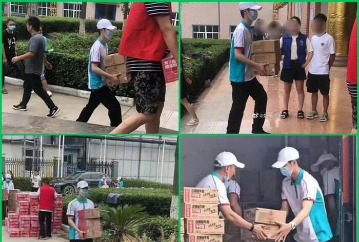 Vương Nhất Bác và loạt khoảnh khắc đẹp trong chuyến cứu trợ Hà Nam: Chào mừng dũng sĩ nhỏ bình an trở về 3