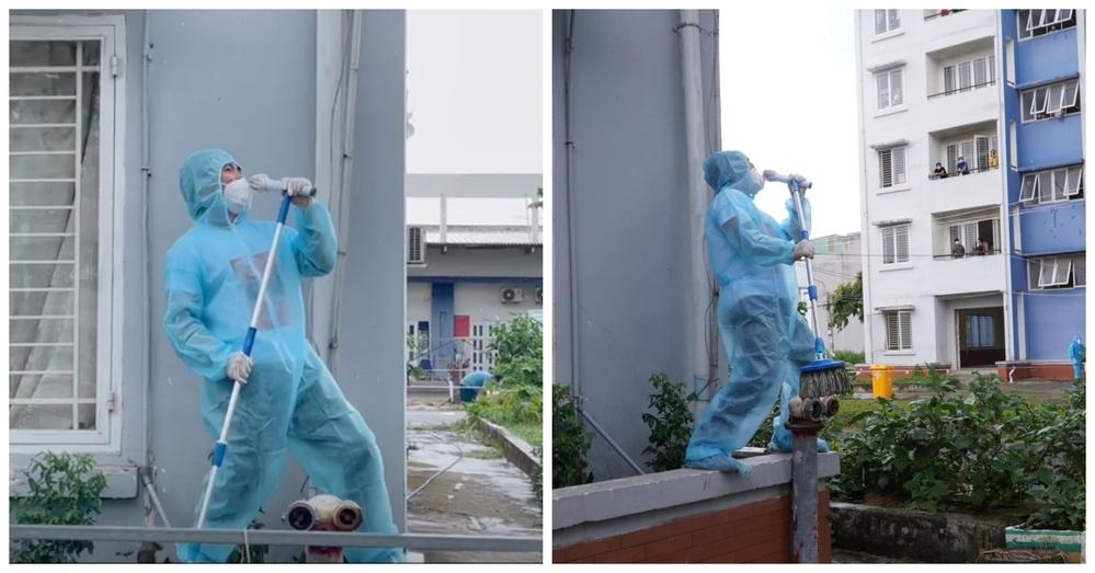 Nghẹn đắng hình ảnh sao Việt đứng dưới trời mưa hát tặng bệnh nhân cách ly: Liều thuốc tinh thần vô giá 3